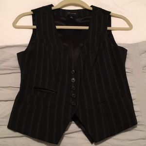 The Limited Black and white striped vest